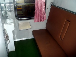 A 1st class cabin on Trains in Thailand
