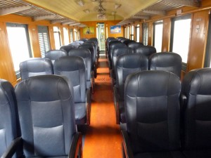 2nd class fan seats on train 170 in Thailand