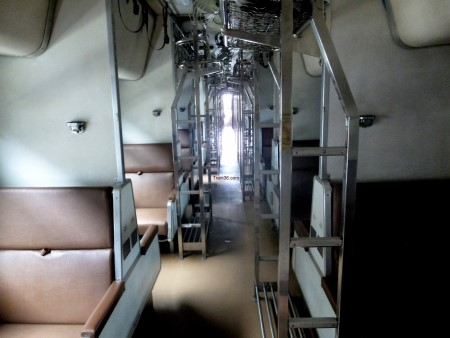 2nd Class Sleeper Coaches - Seats turn into overnight sleeping berths