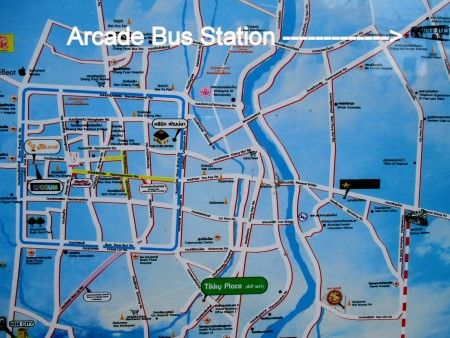 Arcade Bus Station Chiang Mai Map