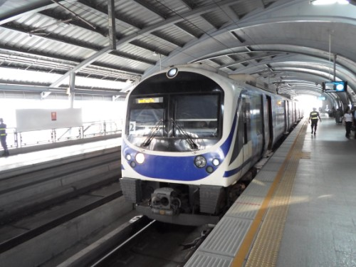 The Blue BKK airport train on the SA city line