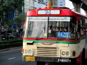 Bus 34 on Phaya Thai Road
