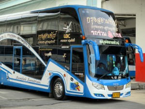 Bus leaving for the South of Thailand