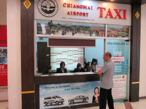 Taxi counter at Chiang Mai Airport