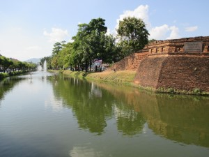 City moat and wall
