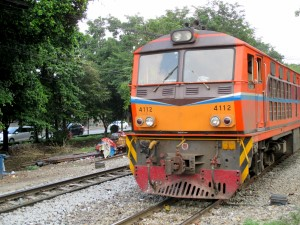 Commuter train from Bangkok to Ayutthaya