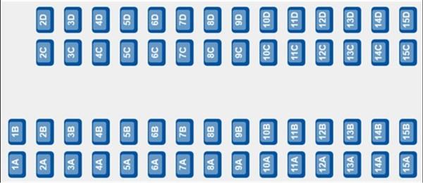 ETS 9222 - Coach F Seat Plan