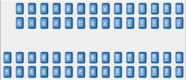 ETS 9224 - Coach F seating plan