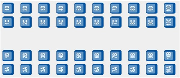 ETS 9204 - Coach D Seat Plan