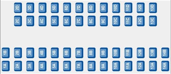 ETS 9222 - Coach E Seat Plan