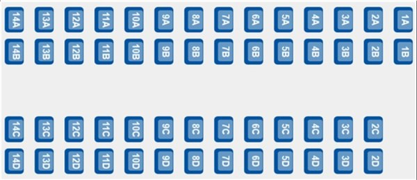 ETS 9224 - Coach B seating plan