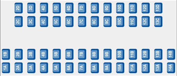 ETS 9224 - Coach E seating plan