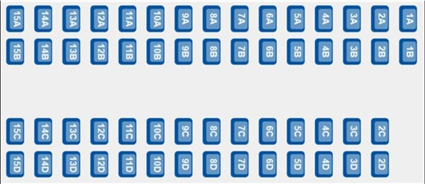 ETS 9420 - coach A seating plan