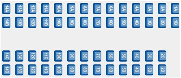 ETS 9420 - coach B seating plan