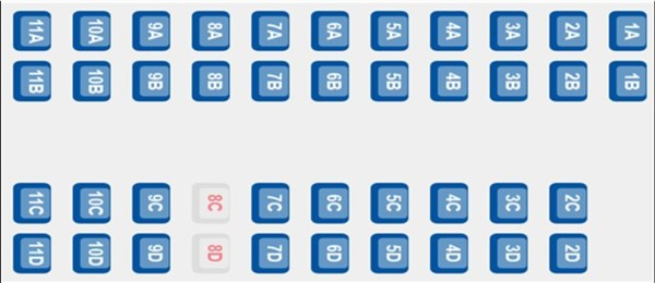 ETS 9420 - coach C seating plan