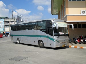 Green Bus leaving for Chiang Rai