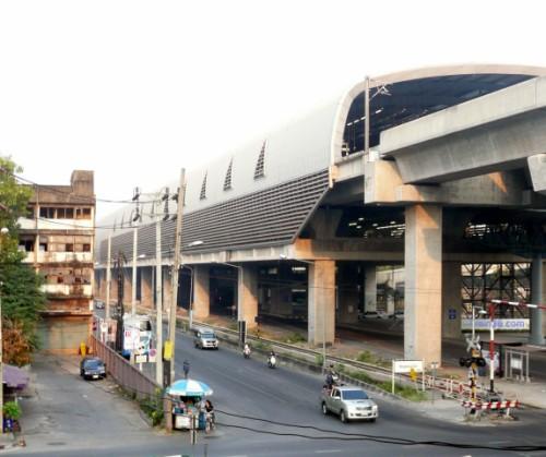 Outside view of Makkasan Airport Train Station Bangkok
