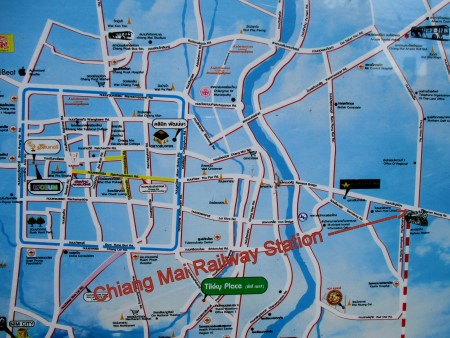 Map of Chiang Mai Station