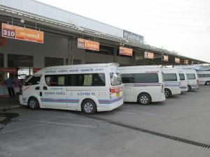 Minibus Centre beside Sai Tai Mai Bus Station