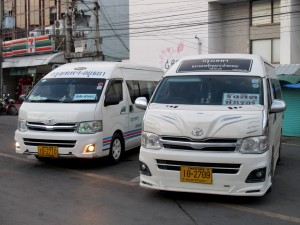Minibuses from Ayutthaya to Rangsit Future Park