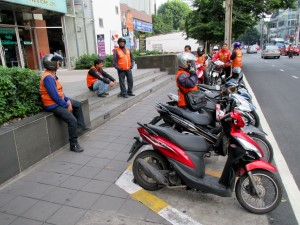 Motorbike Taxi's on Soi 63