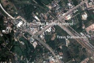 Map of Nong Khai Train Station