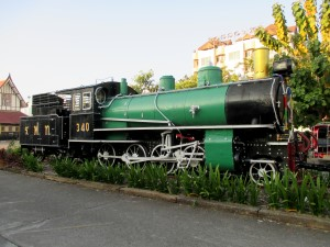 Old steam locomotive at Chiang Mai station