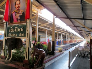 photo of the platforms at Chiang Mai Station