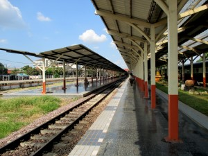 Platforms at Chiang Mai station