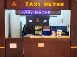 Metered Taxi stand inside the Domestic Terminal