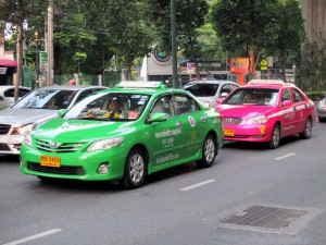 Taxi's on Sukhumvit Road