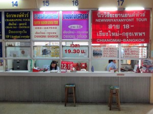 Ticket counters to Bangkok and Udon Thani