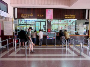 Ticket selling counters at Chiang Mai station