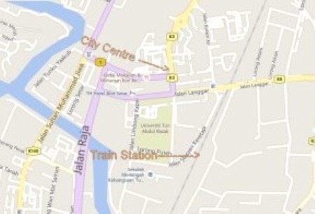 Alor Setar Train Station Map