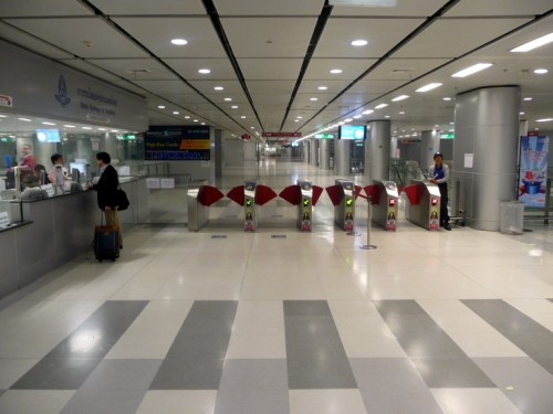 Ticket counter on level B1