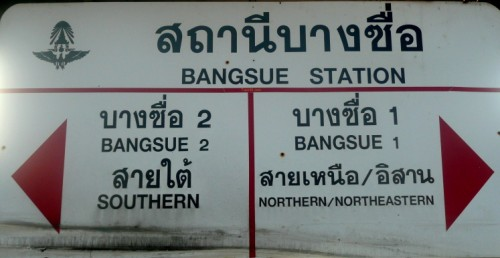 Stations sign