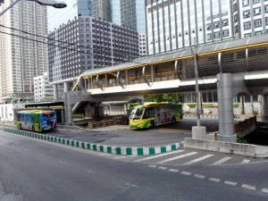 Photo of the BRT Sathorn station