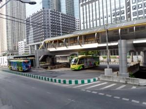 Photo of the BRT Sathorn station