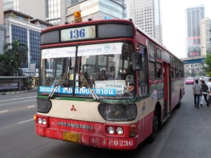 bus 136 in Bangkok