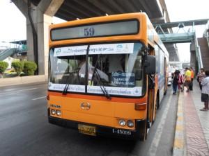 bus 59 to Sanamluang near Khaosan Road