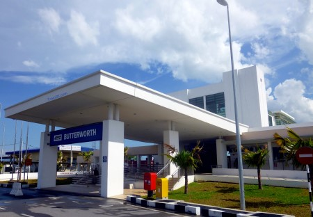Photo of the front entrance to Butterworth Railway Station