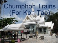 Click for Trains from / to Chumphon Thailand