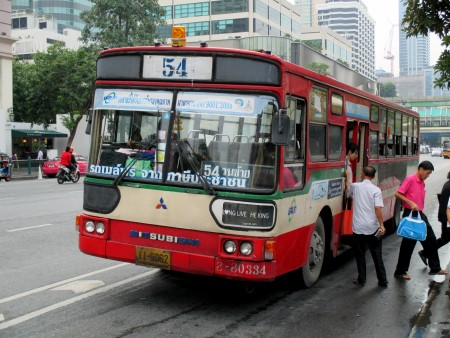 City bus number 54 outside Ratchaprarop