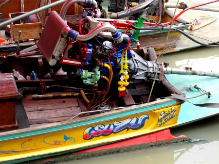 colorful boat at Amphawa floating market