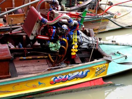 colorful boat at Amphawa floating market