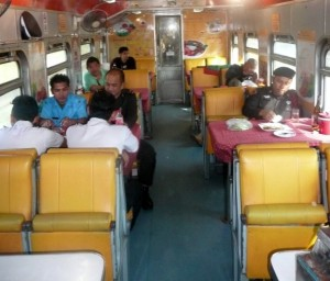 The dining car on train 35