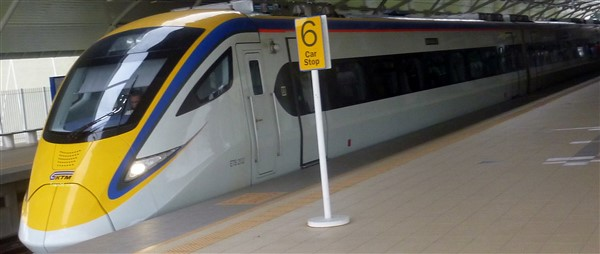 ETS train from KL Sentral to Padang Besar