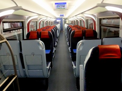 Seats on a typical ETS Platinum Class Train