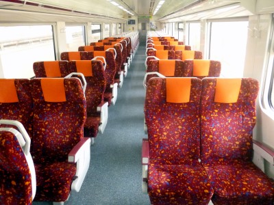 Train Seats on a typical ETS Silver Service