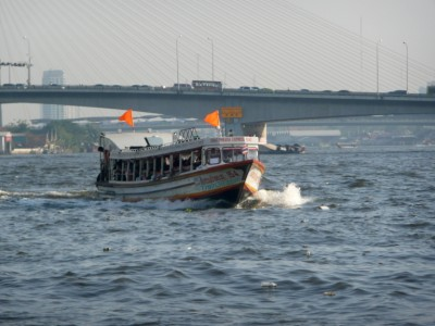 Picture of a ferry boat on the Chaopraya river in Bangkok